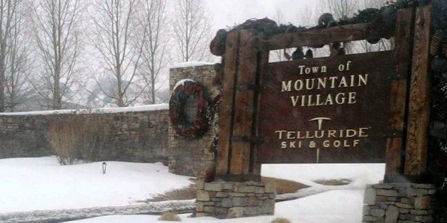 Mountain Village Colorado Welcome Sign