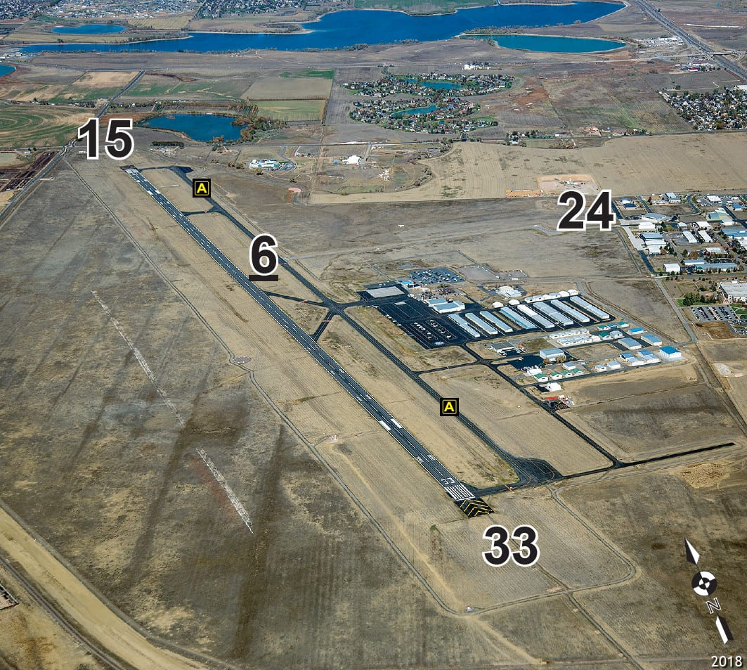 Northern Colorado Regional Airport Runways Aerial