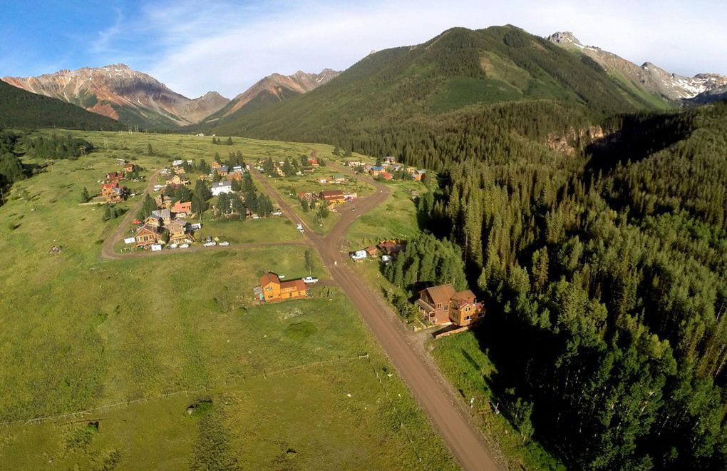 Ophir Colorado Aerial View