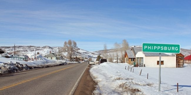 Phippsburg Colorado Highway 131 Town Sign
