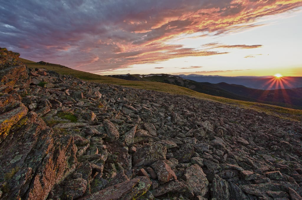 Powderhorn Wilderness Colorado Sunset