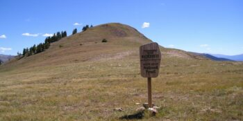 Ptarmigan Peak Wilderness White River National Forest Sign