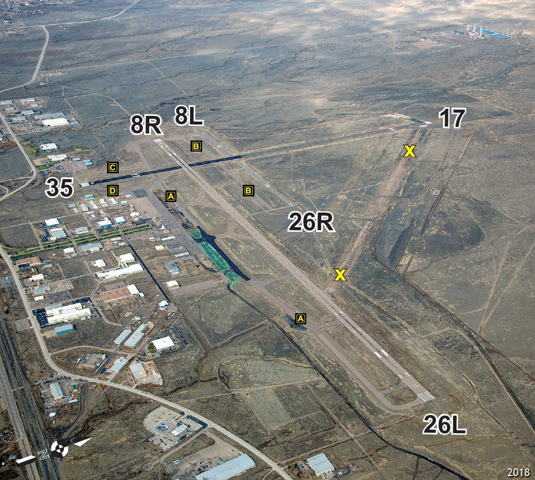 Pueblo Memorial Airport Runway Aerial View