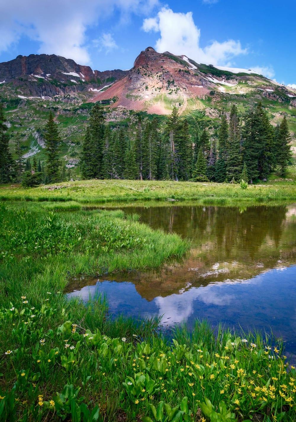 Raggeds Wilderness Colorado Democrat Basin Lake Reflection
