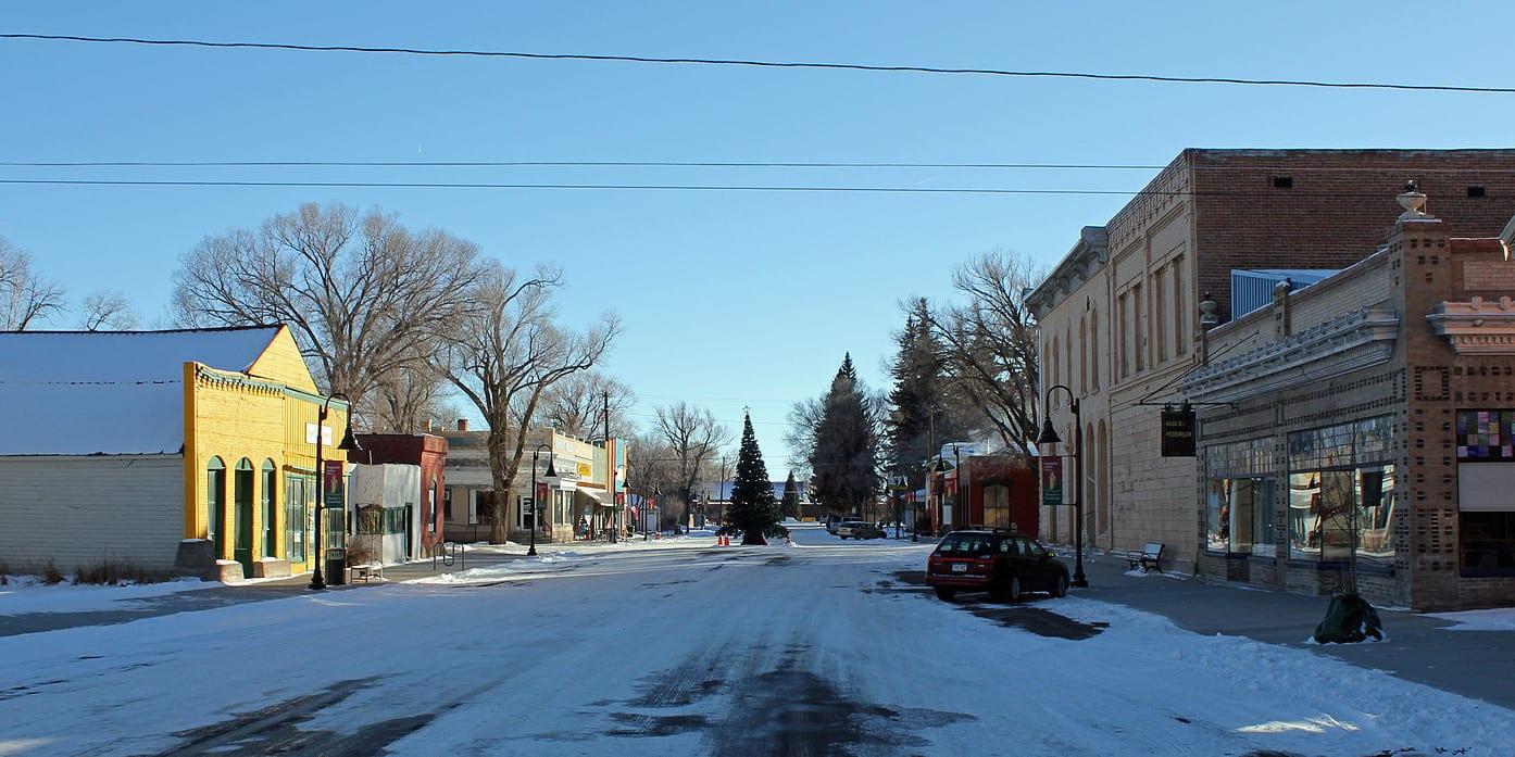 Saguache Colorado Historic Downtown