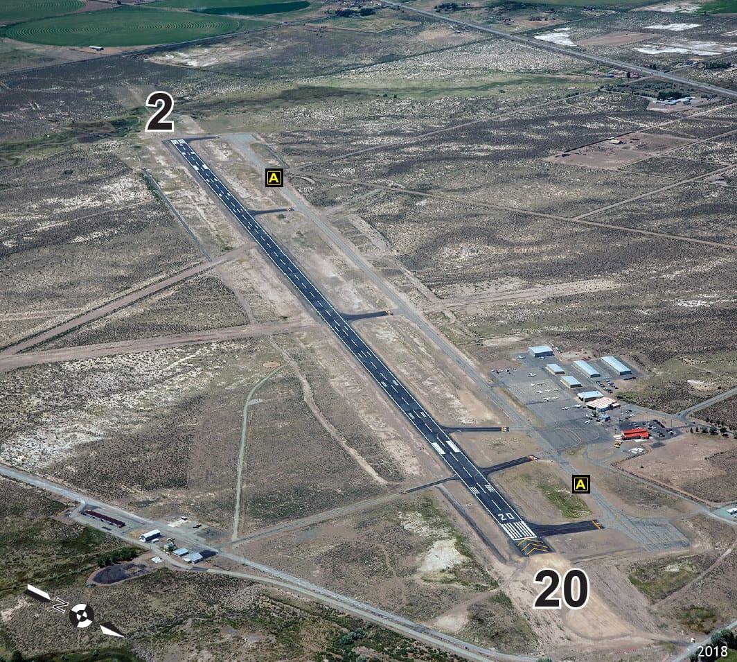 San Luis Valley Regional Airport Alamosa Runway Aerial View