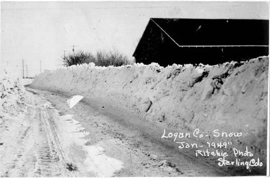 Sterling Colorado 1949 Blizzard