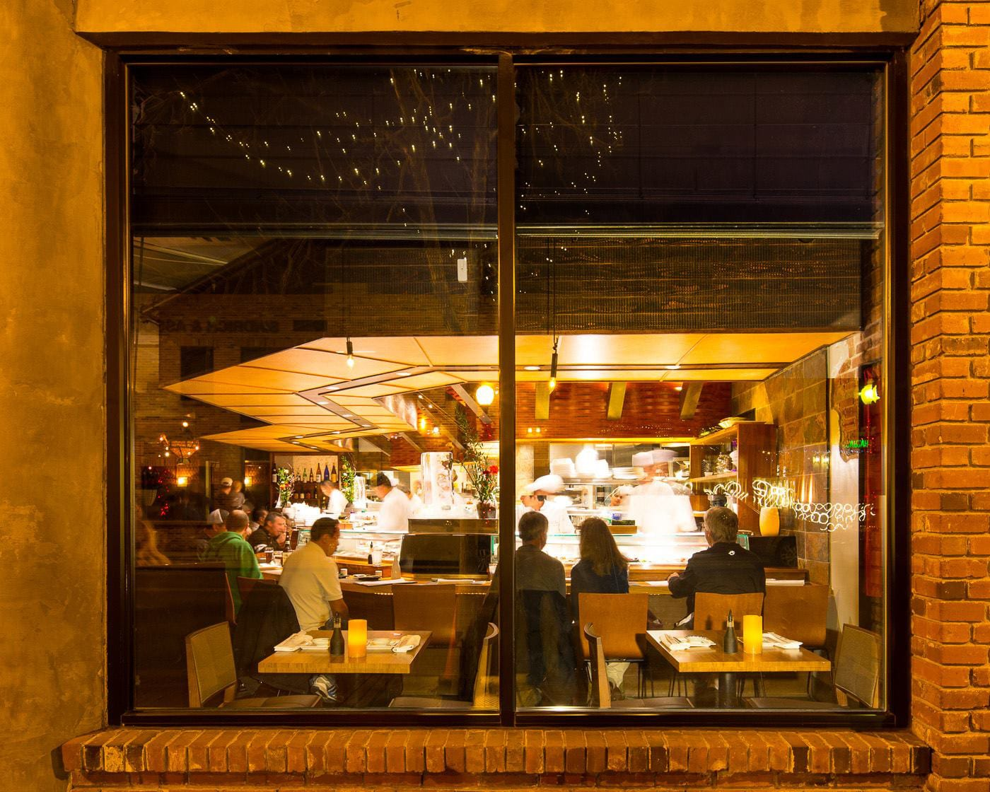 Sushi Den Tables Denver CO Looking Through Window