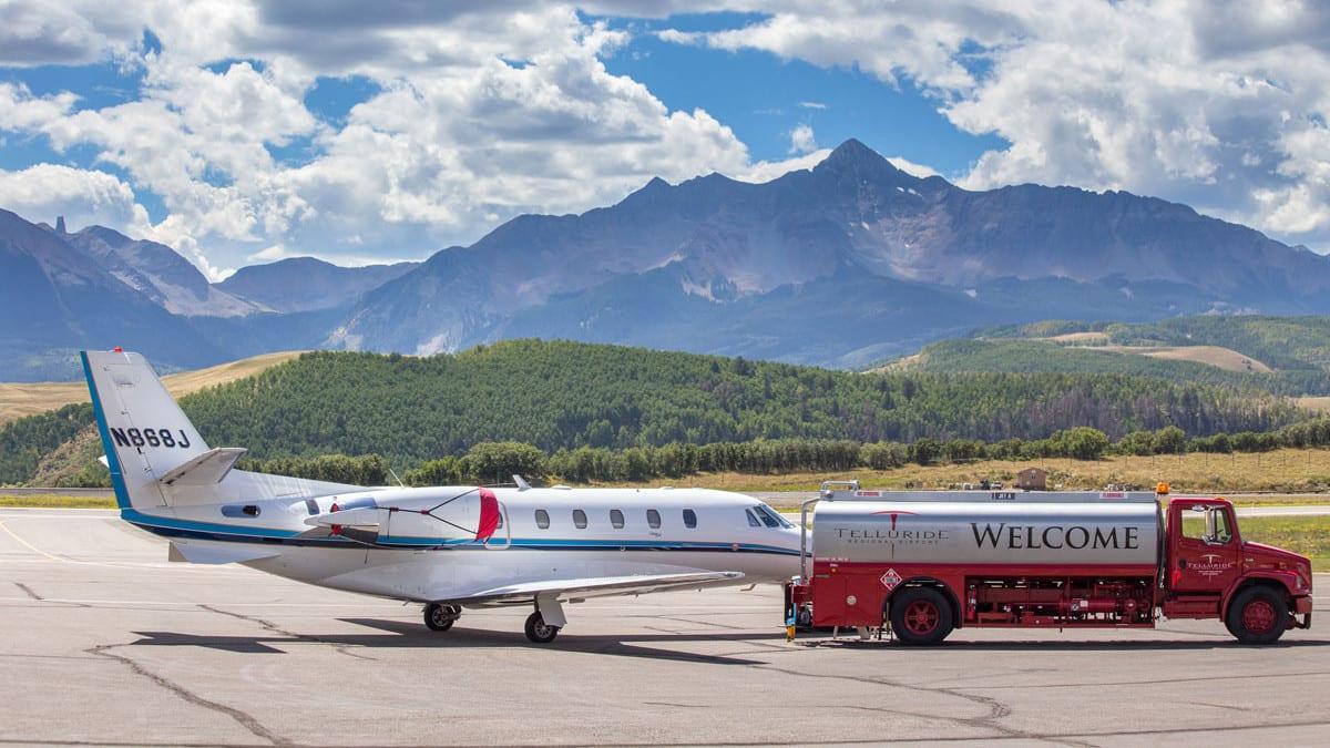 Telluride Regional Airport Plane Refueling