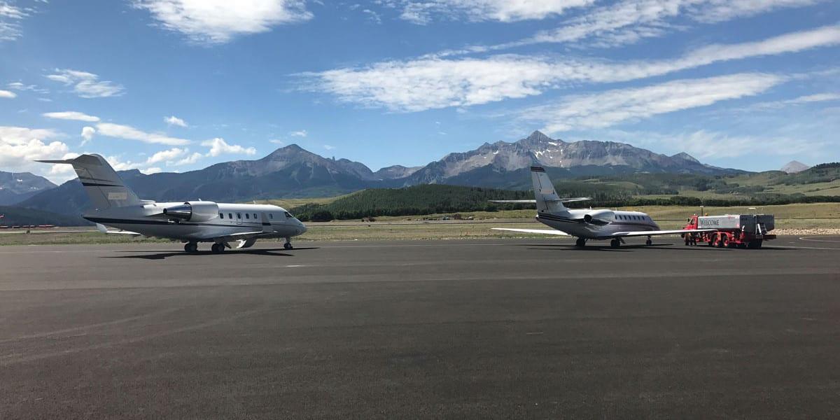 Telluride Regional Airport Planes