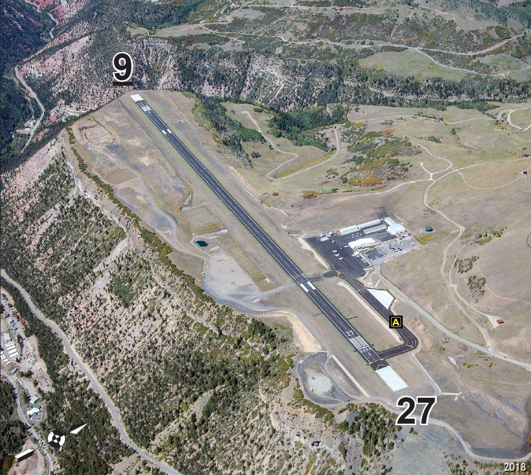 Telluride Regional Airport Runway Aerial View
