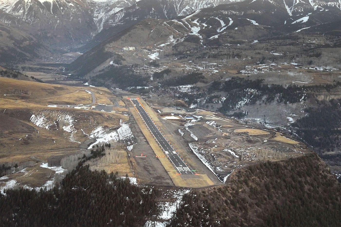 Telluride Regional Airport Runway Landing Strip Aerial View