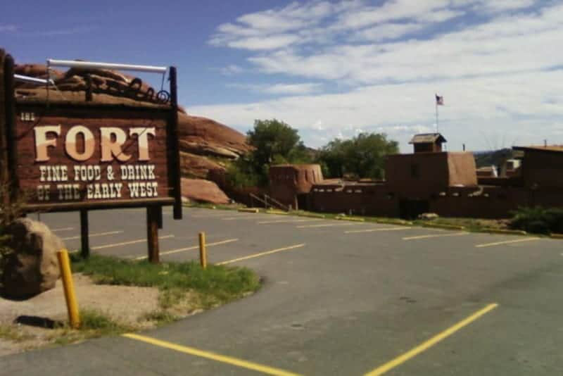 The Fort Restaurant Morrison Colorado Welcome Sign