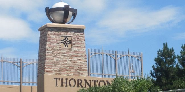 Thornton Colorado Welcome Sign