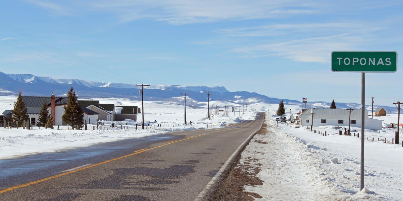 Toponas Colorado Highway 131 Town Sign