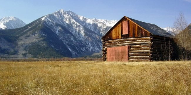 Twin Lakes Colorado Log Cabin