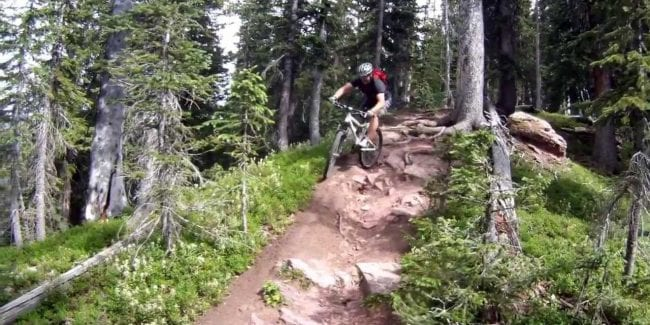 Two Elk Trail Mountain Biker Rocky Single Track