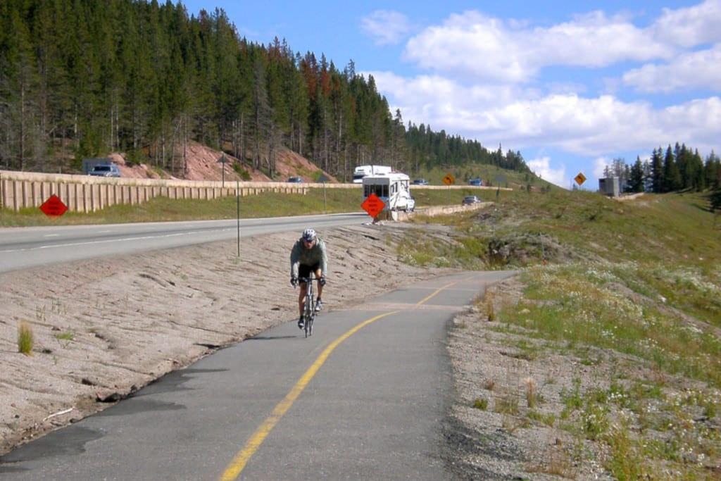Vail Pass Bike Path Biker