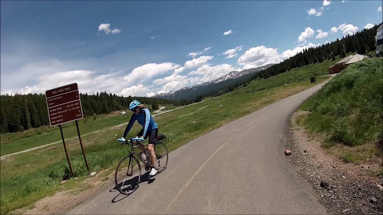 Vail Pass Trail Biker Colorado