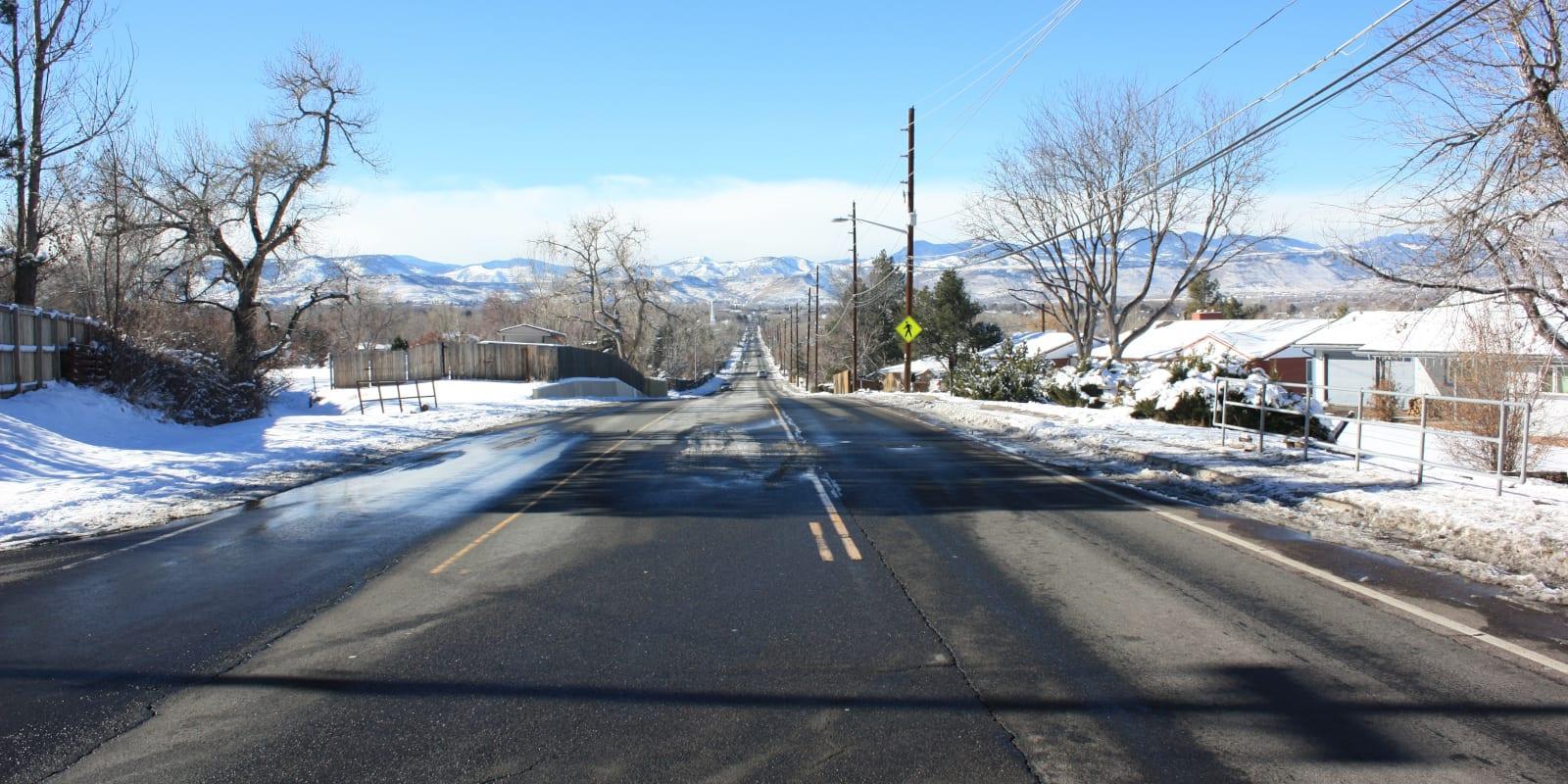 Wheat Ridge Colorado Road Winter