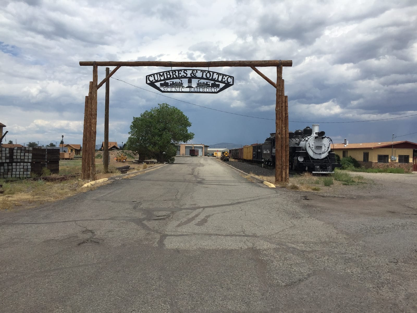 Antonito Colorado Cumbres and Toltec Scenic Railroad Welcome Sign