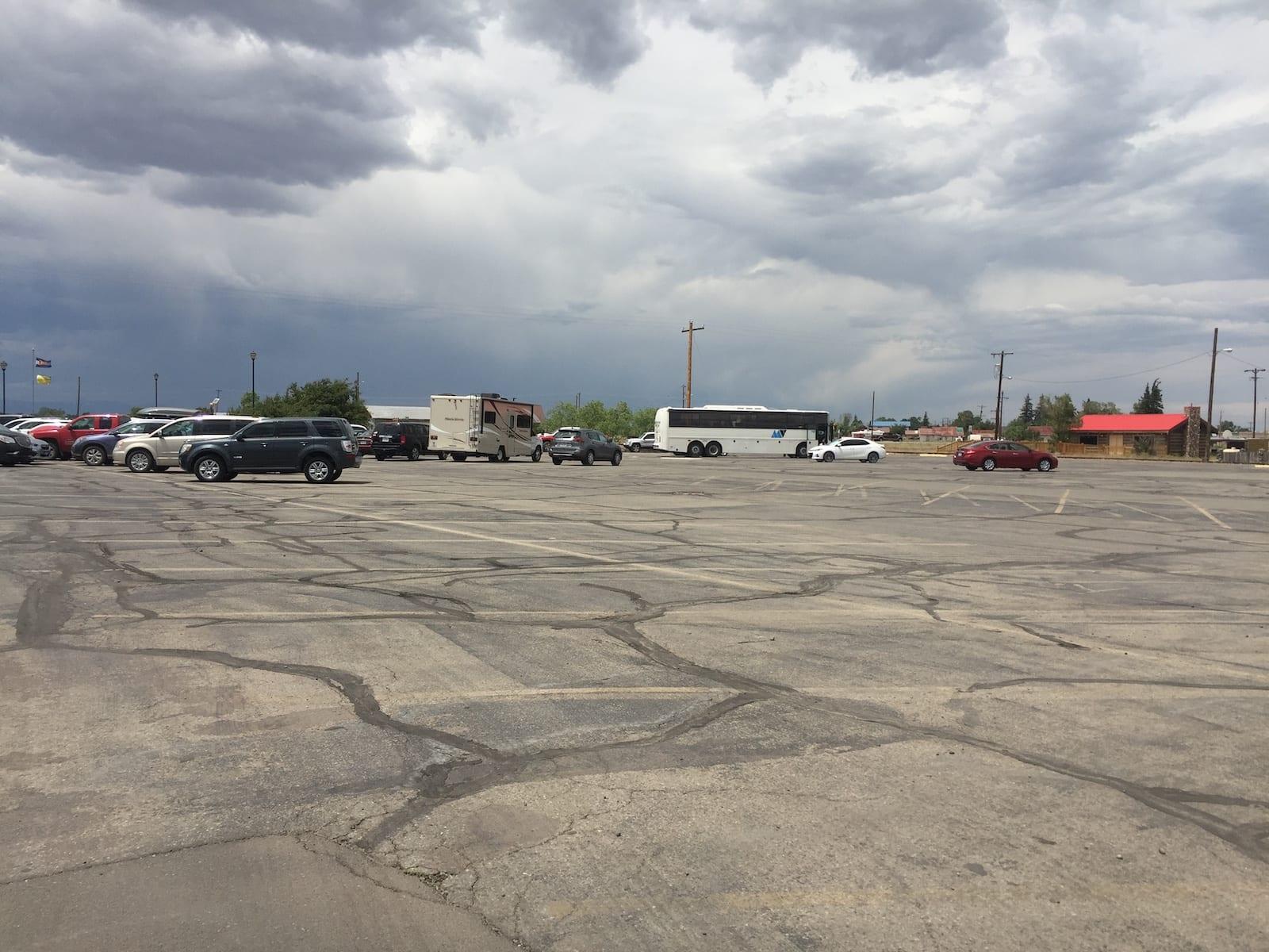 Antonito Colorado Cumbres and Toltec Scenic Railroad Parking Lot