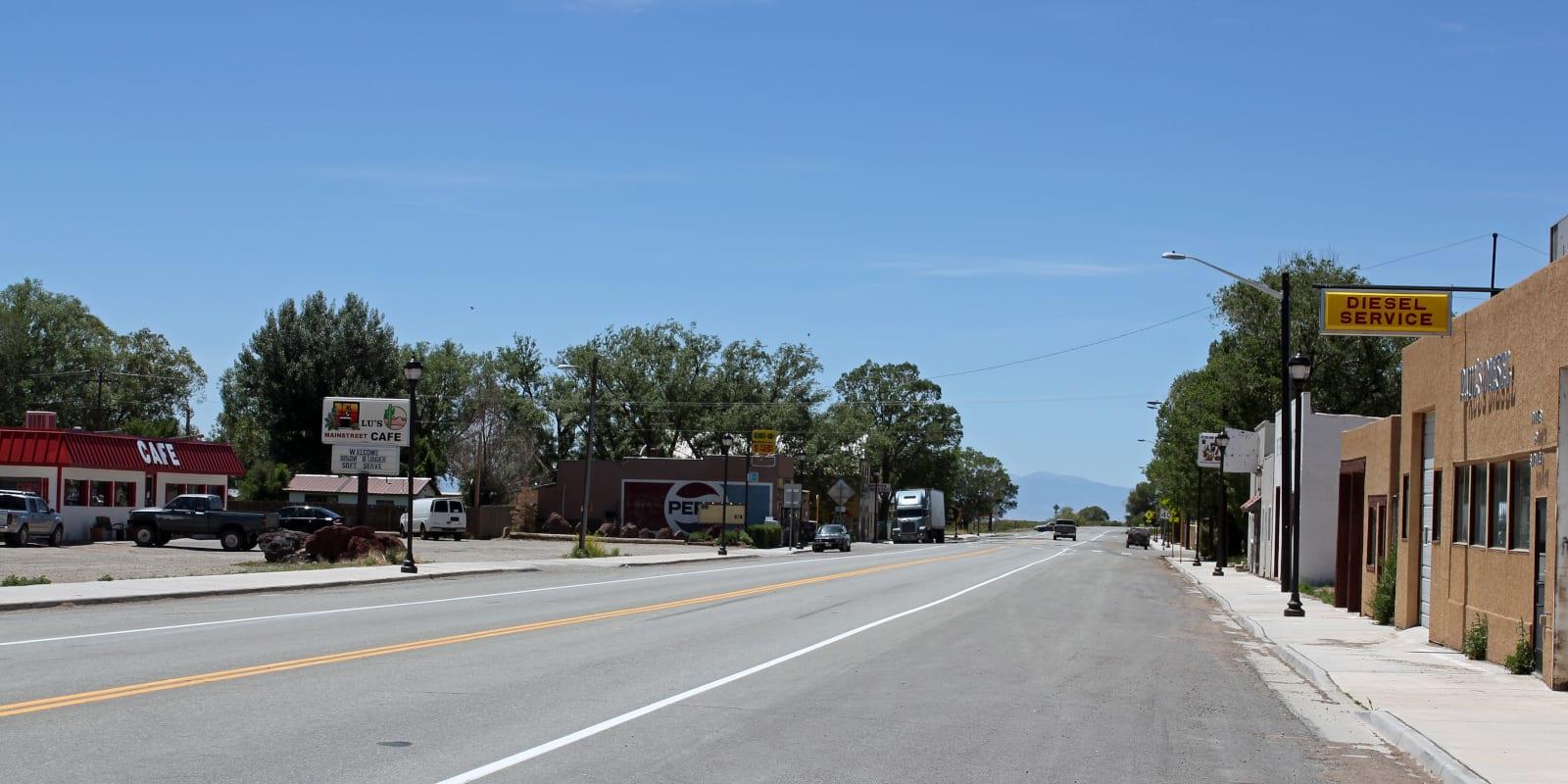 Blanca Colorado Main Street Highway 160