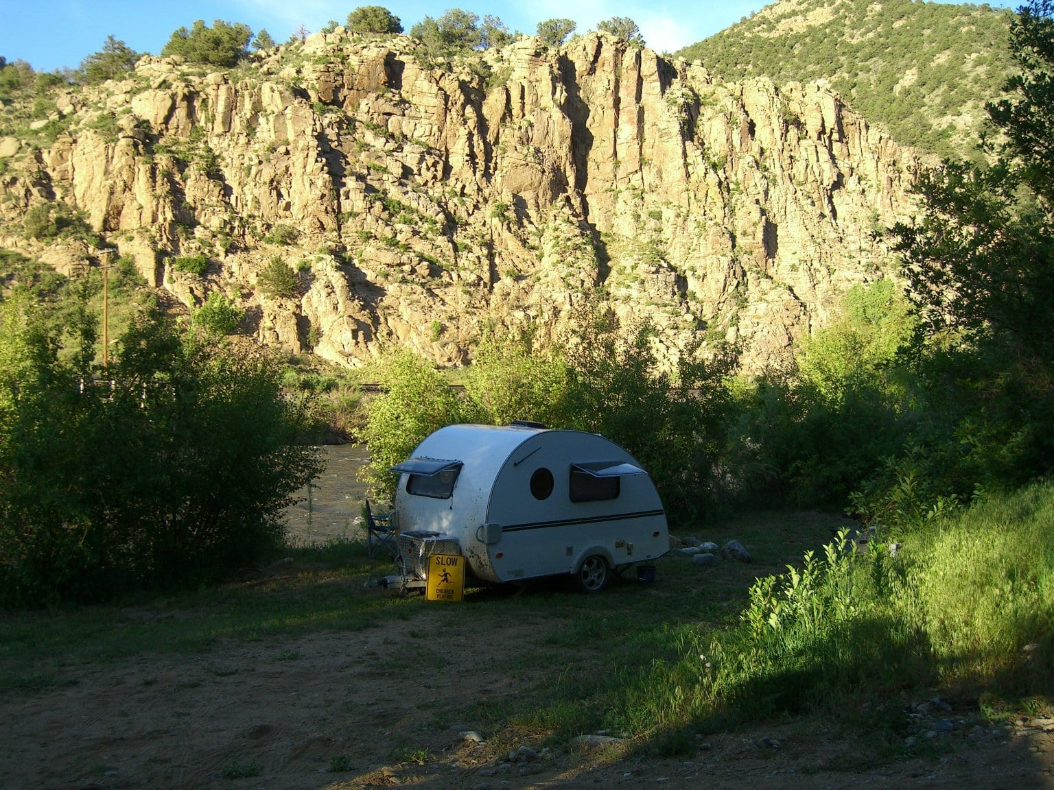 Camping Cotopaxi CO On Banks of Arkansas River