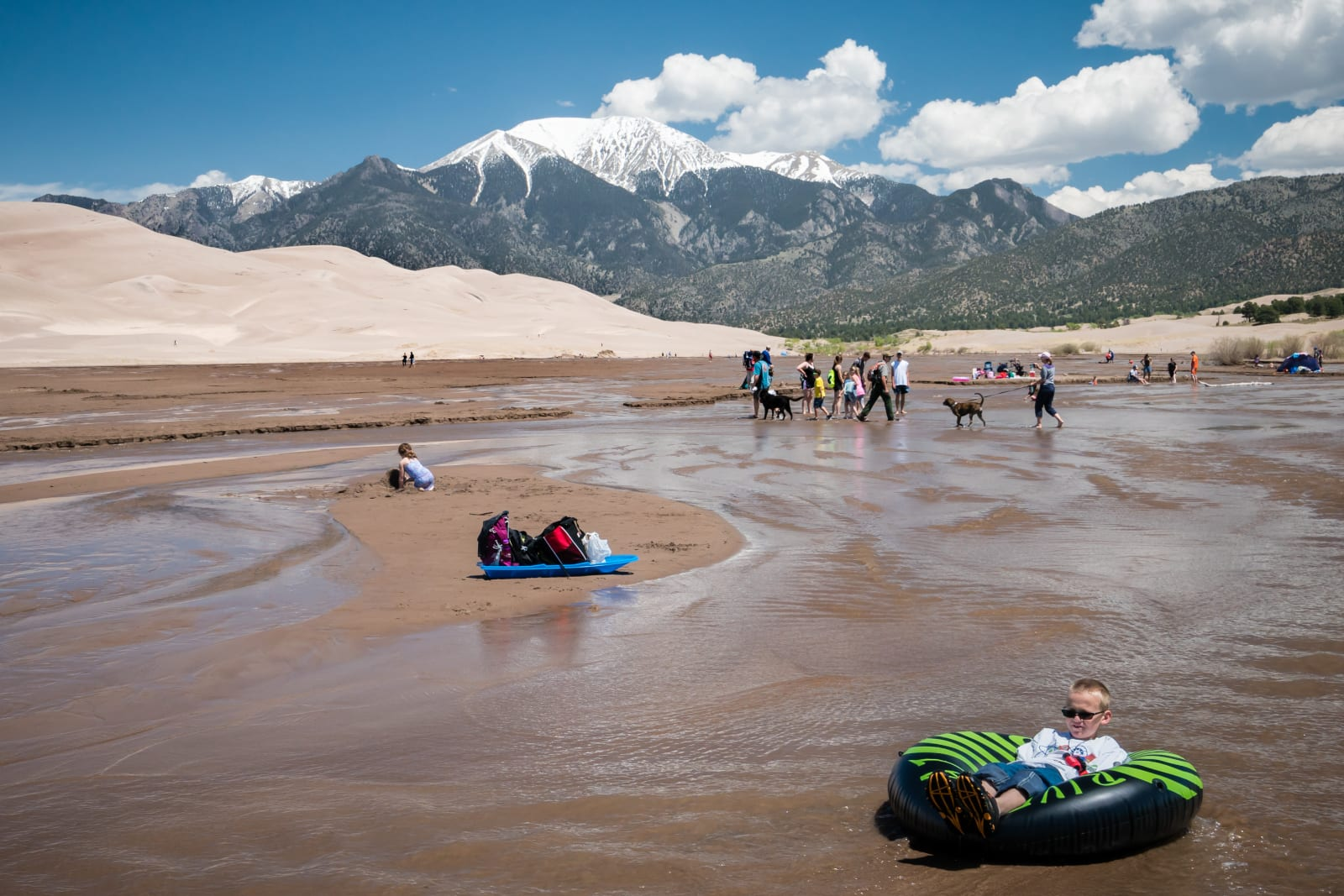 Colorado Best Beaches Medano Creek Tubing