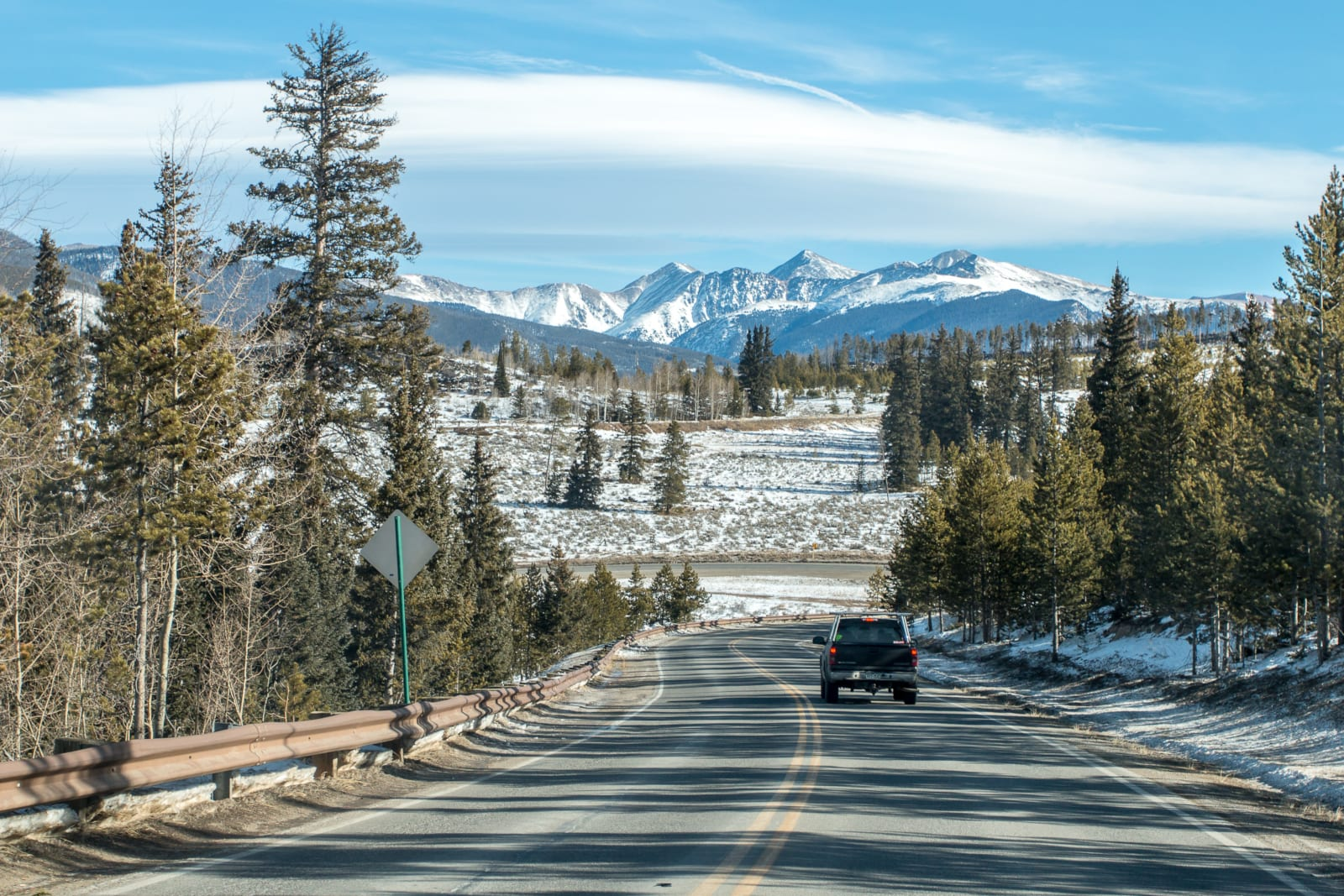 Colorado Mountain Living Truck Driving Road