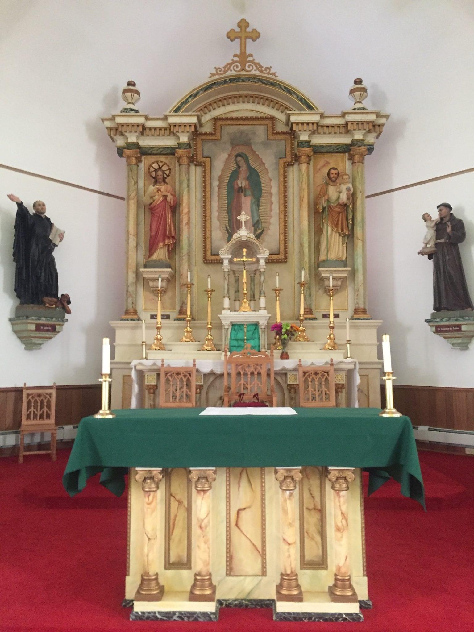 Conejos Colorado Our Lady of Guadalupe Parish Interior Alter