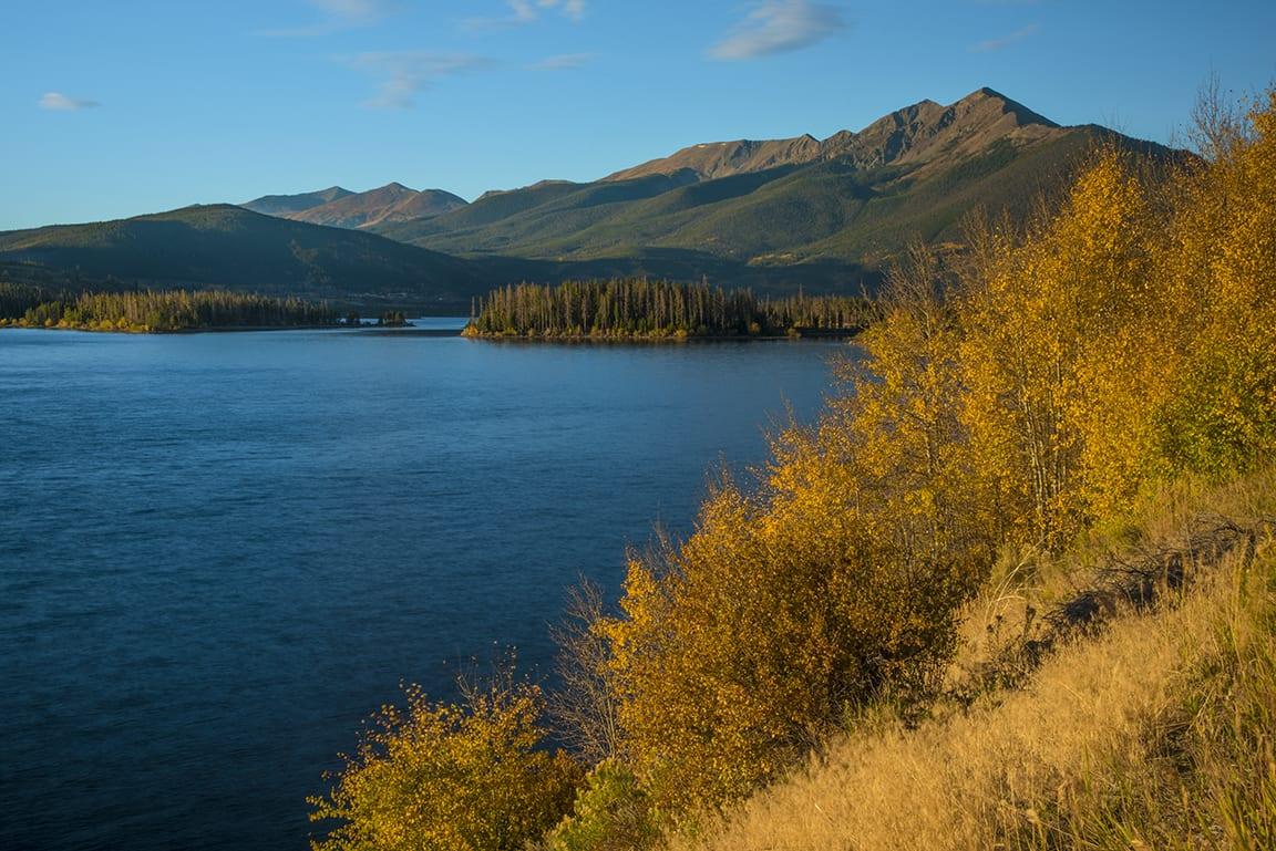 Dillon Reservoir Mountain Sunrise Autumn Colors