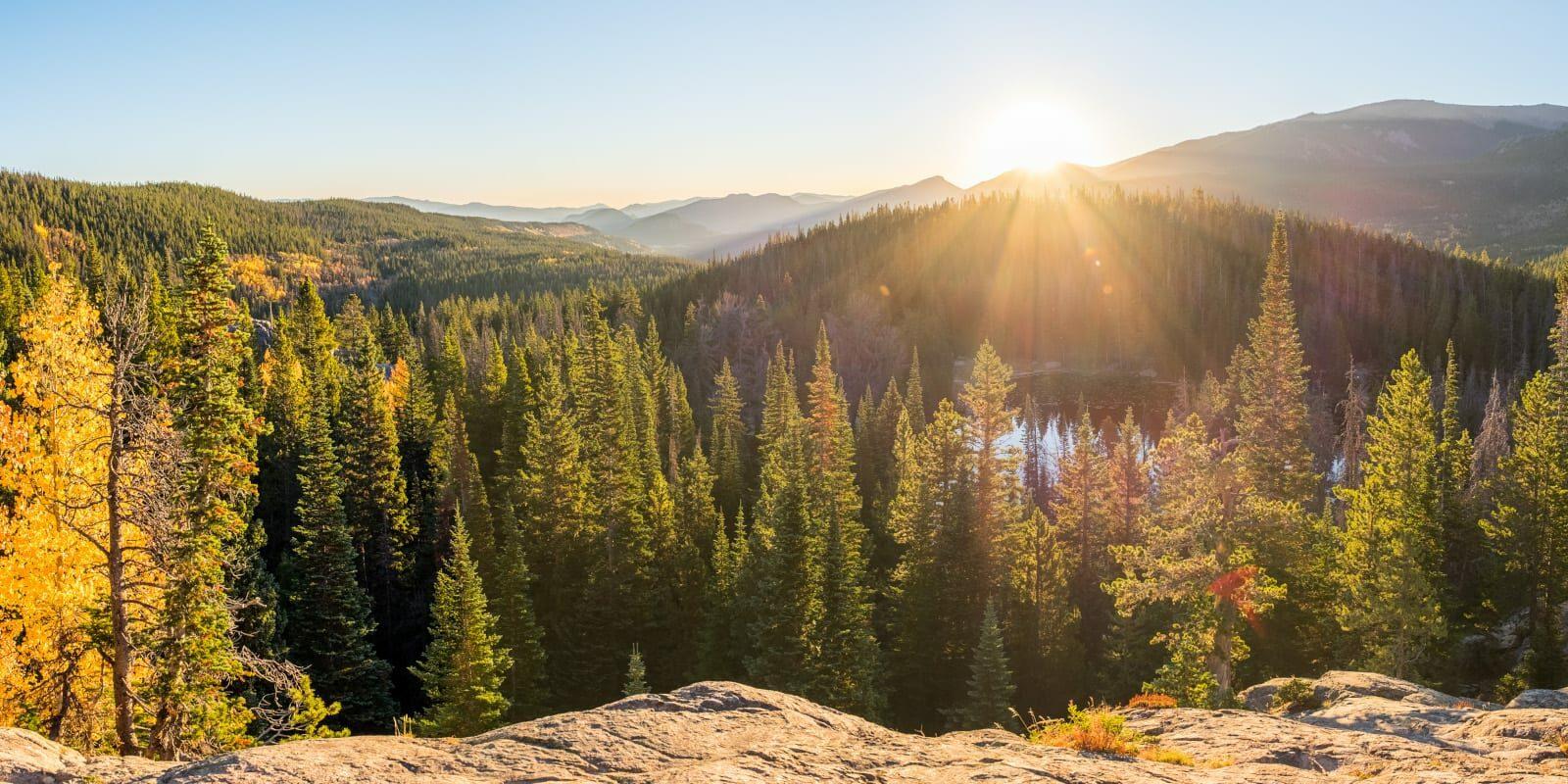 Estes Park Day Hikes Nymph Lake Sunrise
