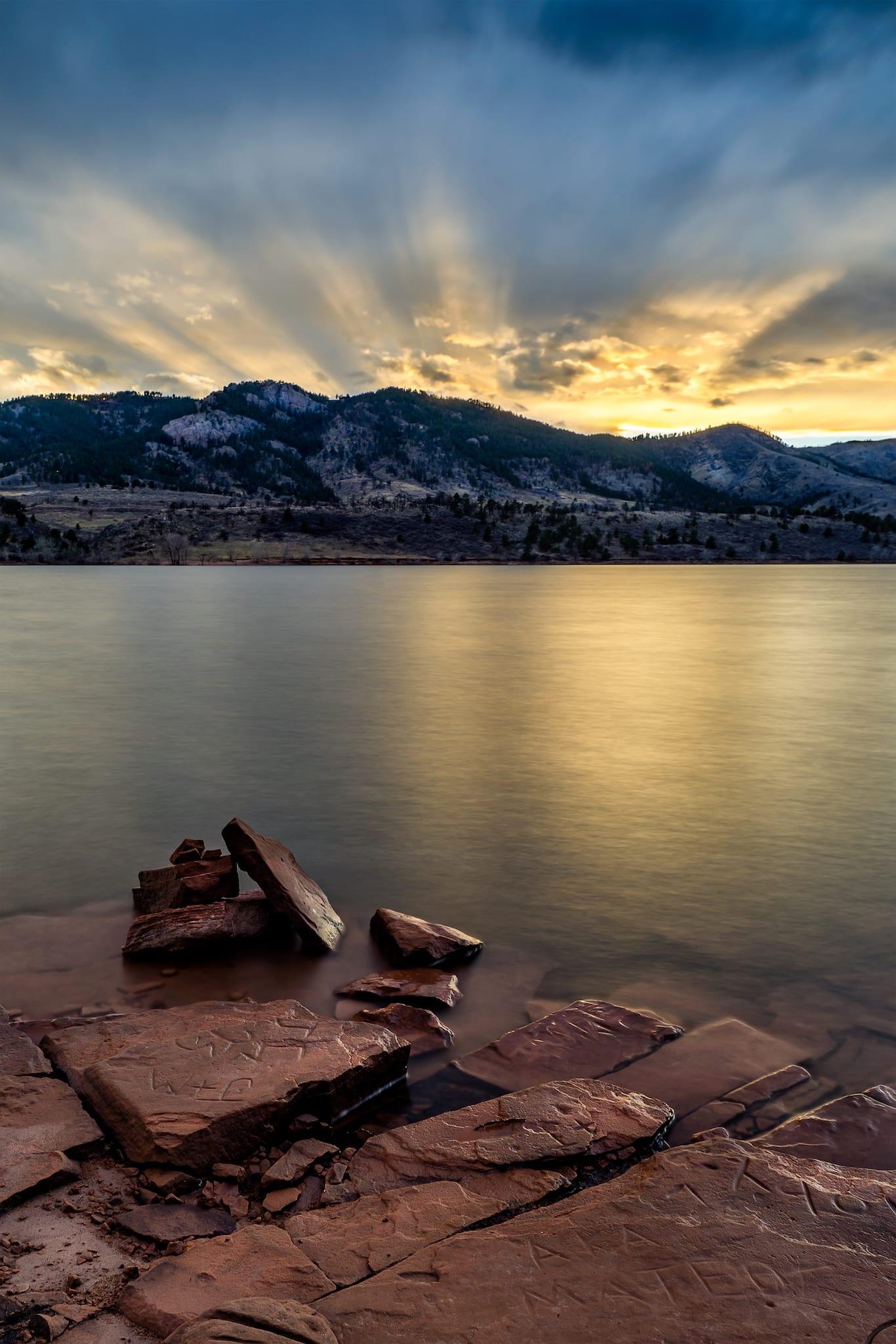 Horsetooth Reservoir Fort Collins CO Sunset