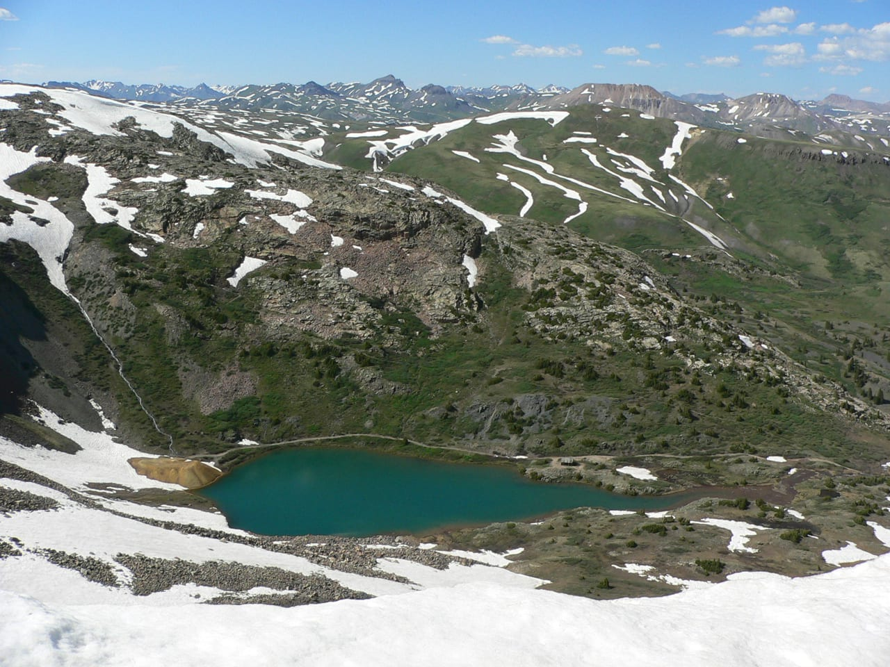Kite Lake Alma CO Aerial View in June