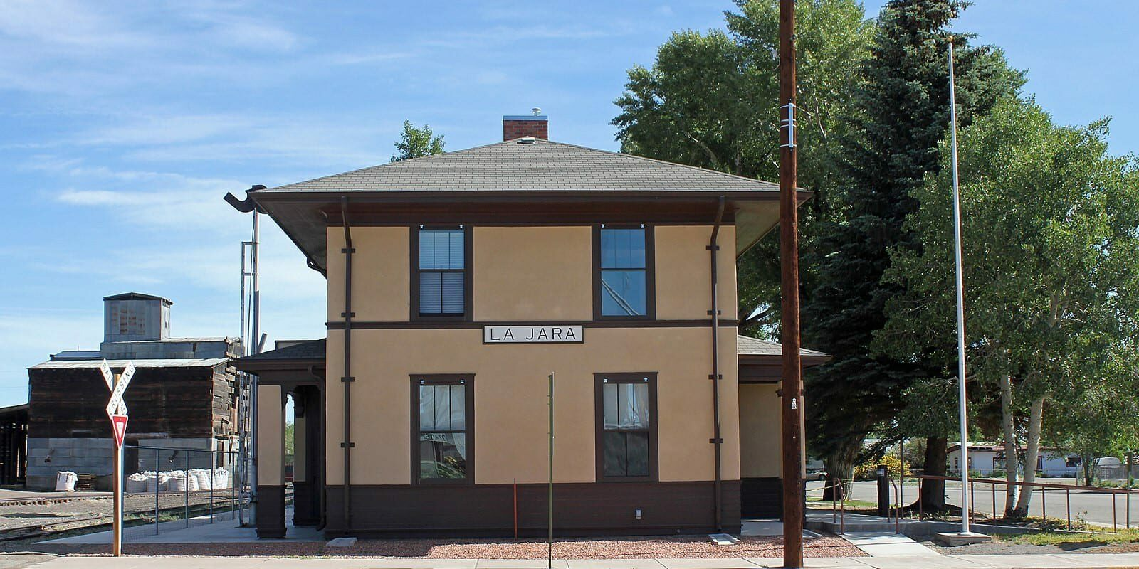 La Jara Colorado Train Depot Town Hall