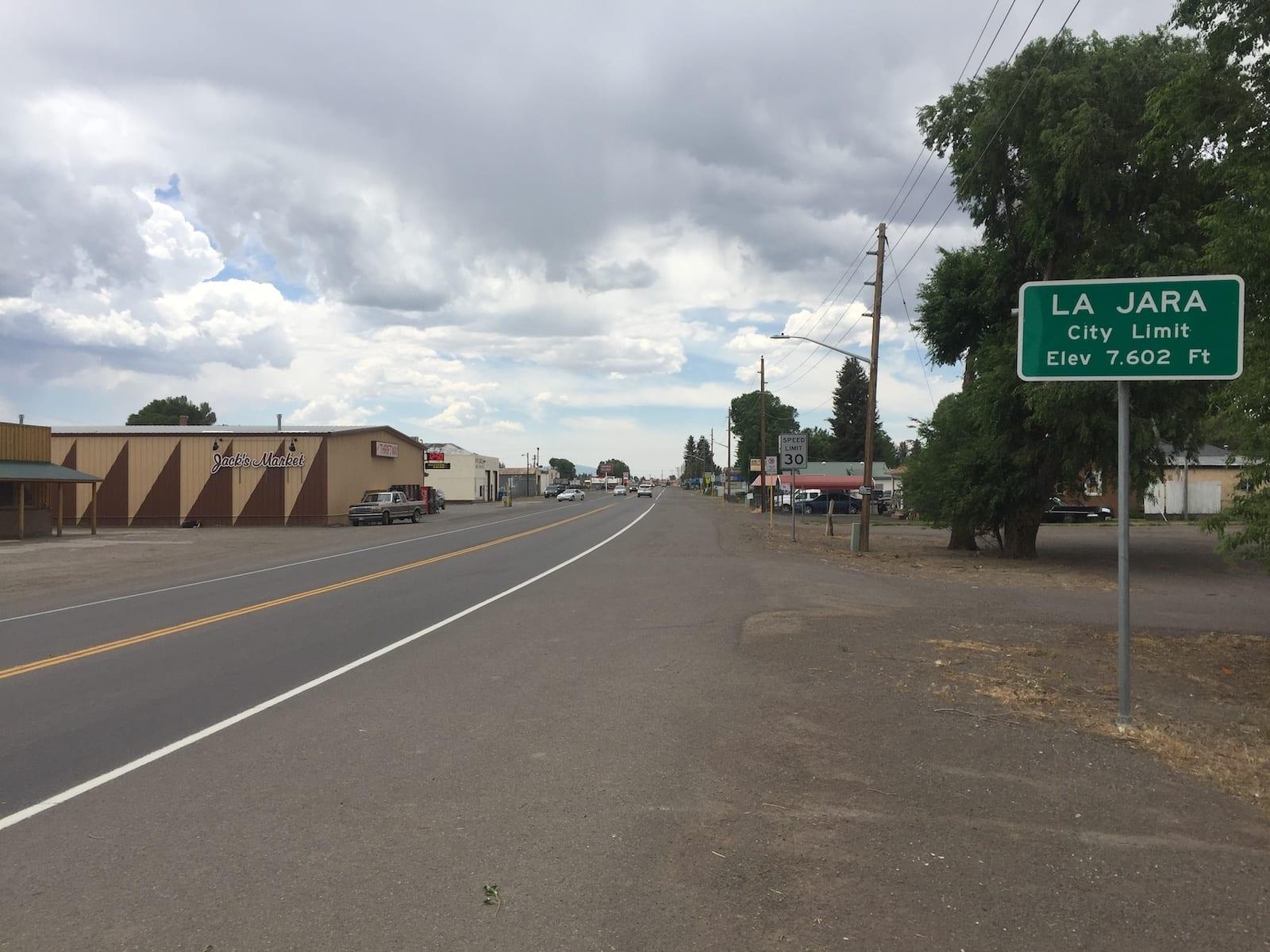 La Jara Colorado City Limits Sign