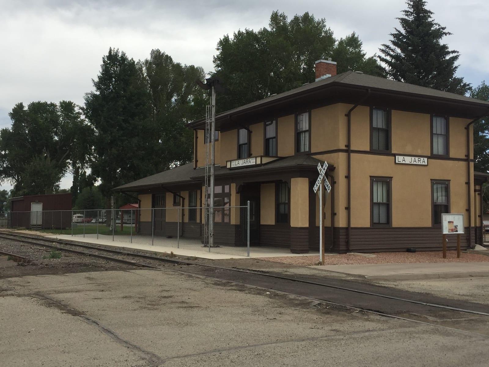 La Jara Colorado Train Depot Railroad Tracks