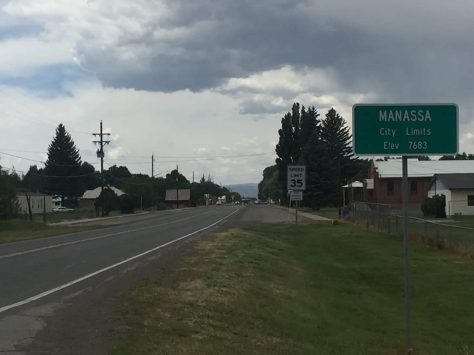Manassa Colorado City Limits Sign