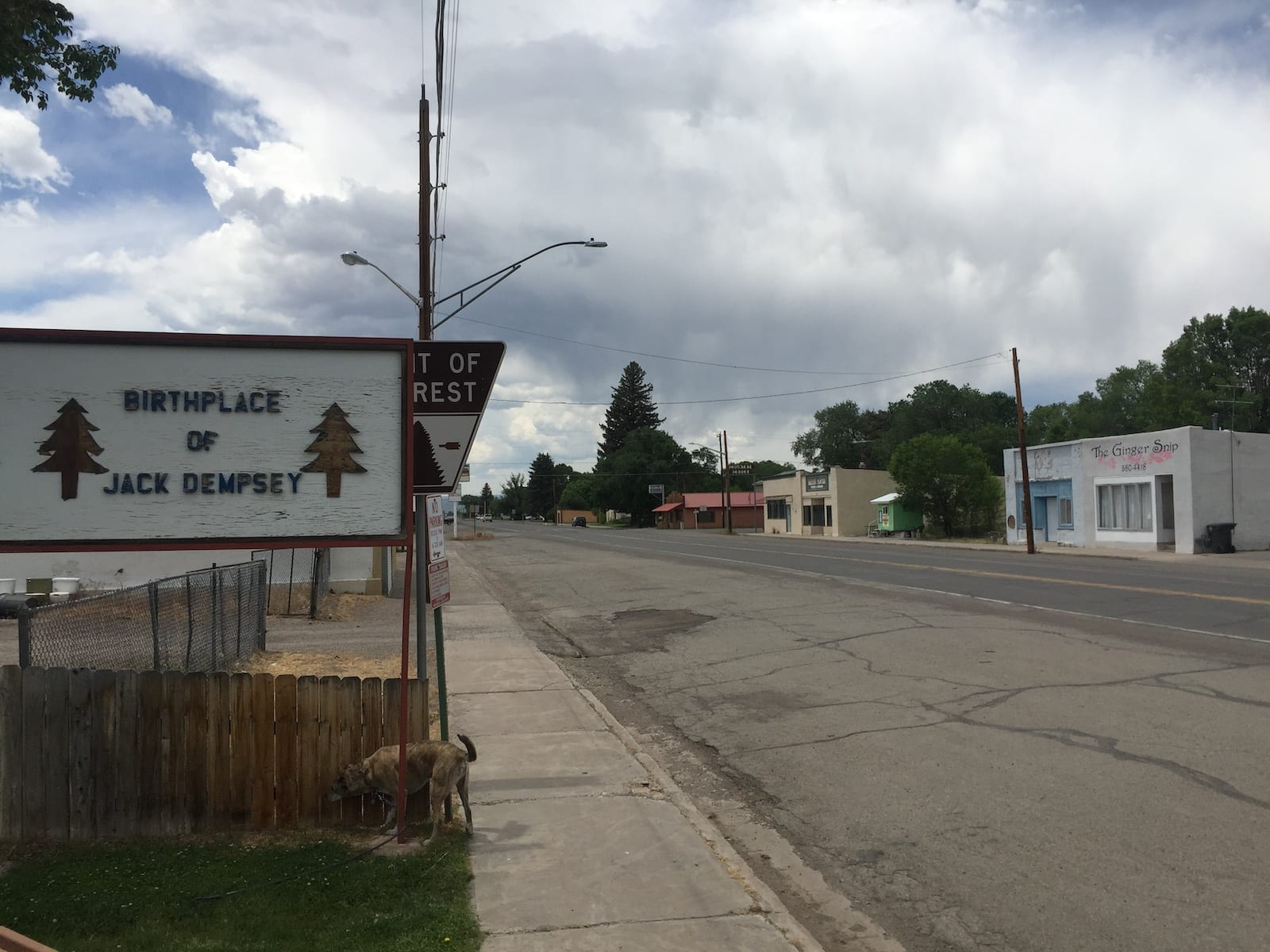 Manassa Colorado Birthplace of Jack Dempsey Sign