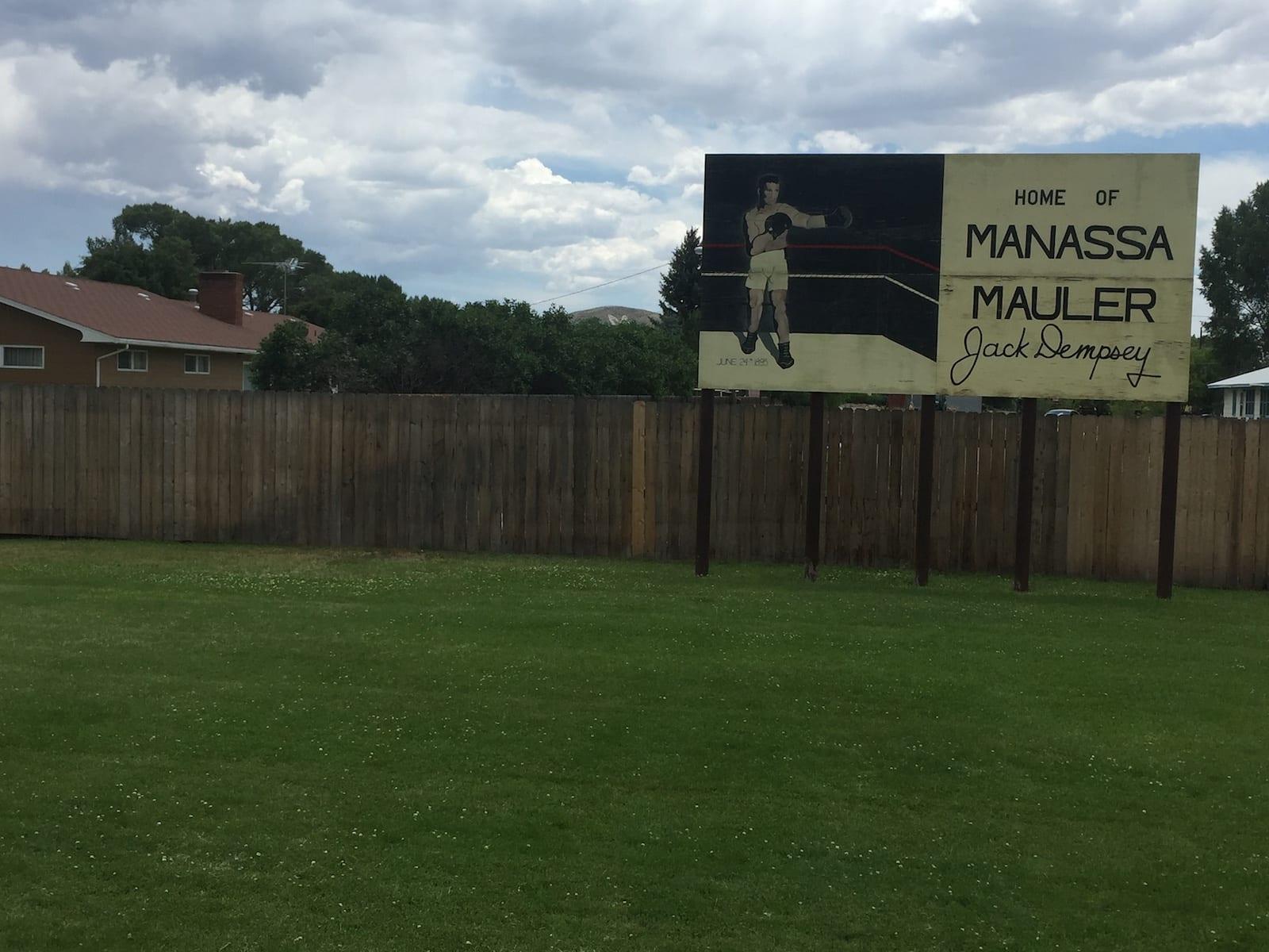Home of Manassa Mauler Jack Dempsey