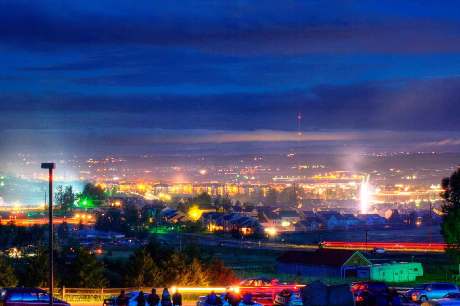 Parker Colorado July 4th Fireworks Night Sky
