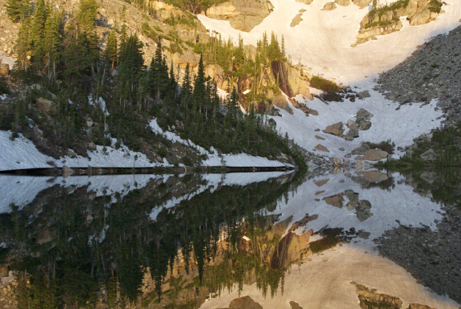 Rocky Mountain National Park Wilderness Lake Reflection