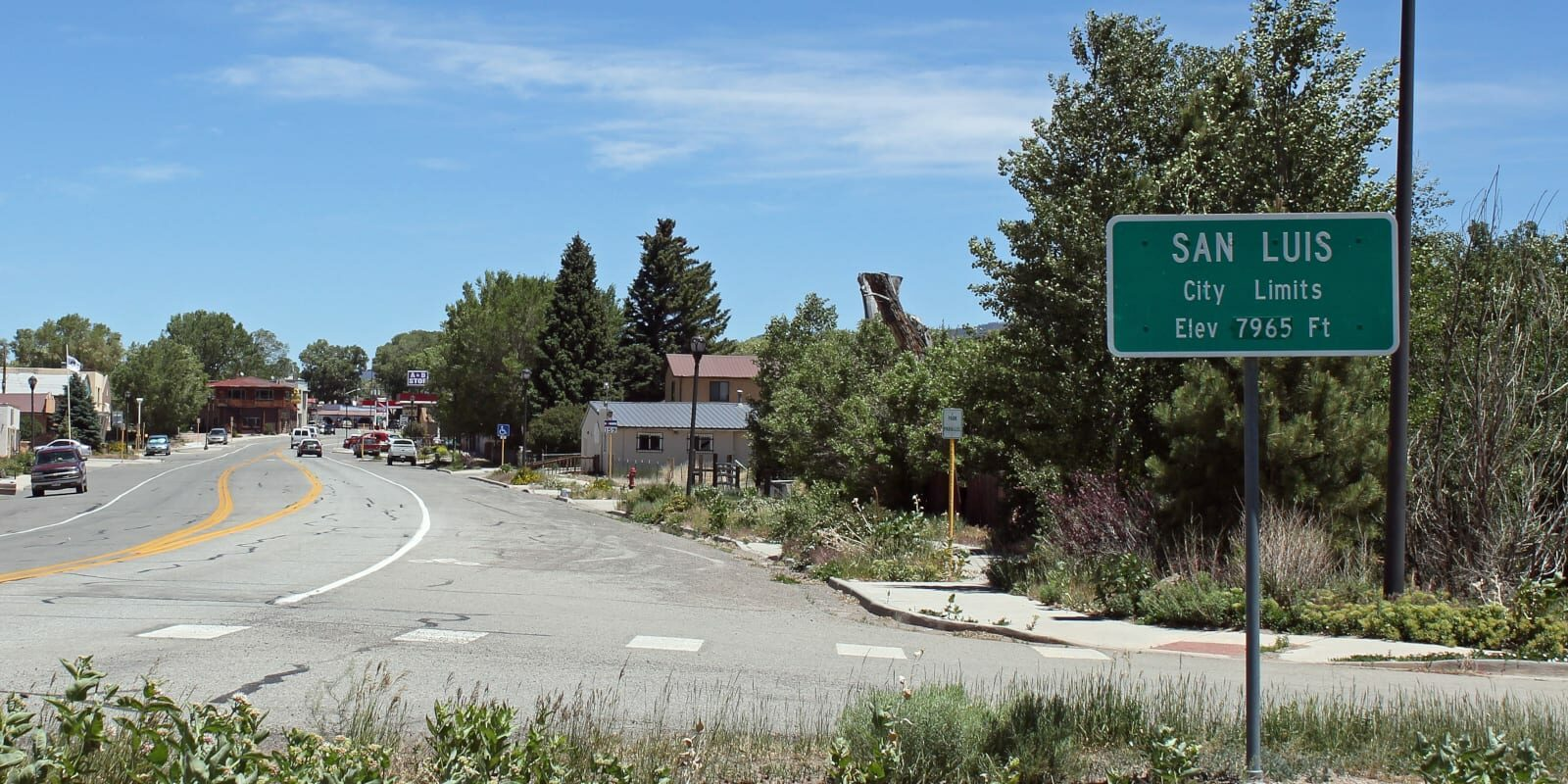 San Luis Colorado City Limits Sign