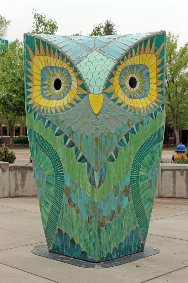gambar seni patung pusat kota Colorado Springs