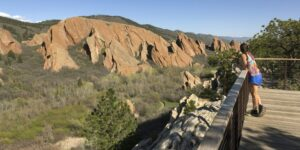 image of woman hiker at Fountain Valley Overlook