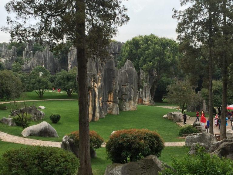 image of stone work in Kunming China