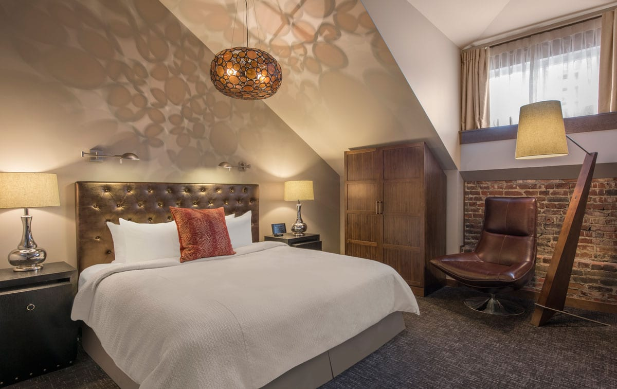 Room at The Crawford Hotel.