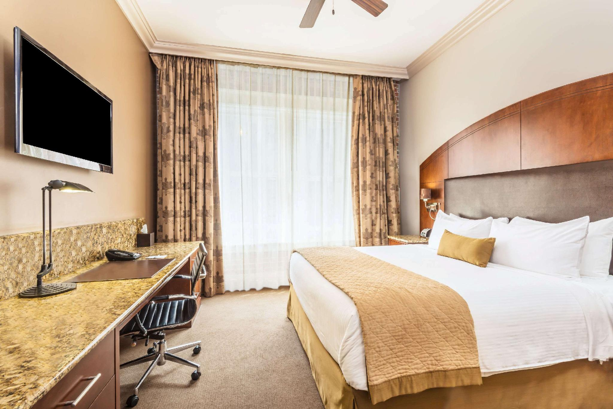Room at The Mining Exchange, A Wyndham Grand Hotel & Spa.