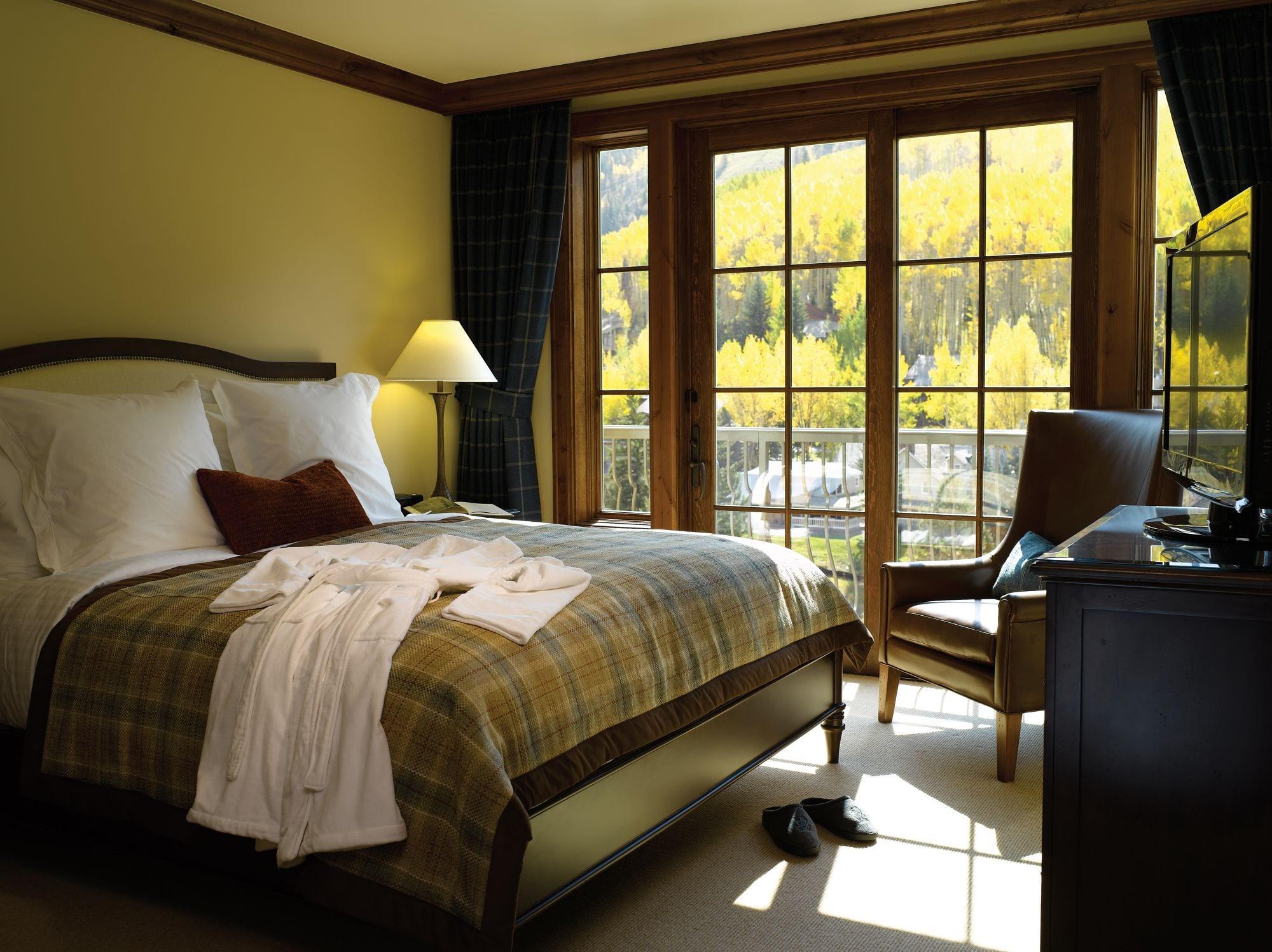Room at The Ritz Carlton Club, Vail.